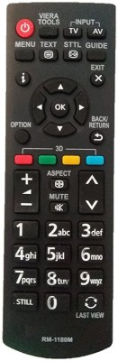 LipiWorld RM-1180M LCD LED TV Compatible For LCD LED TV  Panasonic Remote Controller(Black)