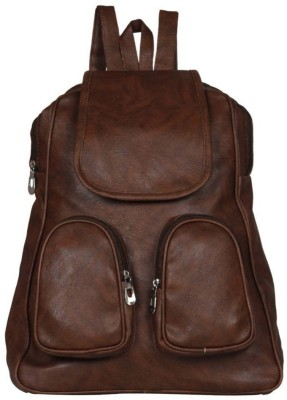 VIEW BAGS DOUBLE POKETS 10 L Backpack(Brown)  available at flipkart for Rs.296