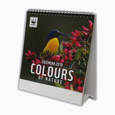 wwf DC-18105 2018 Table Calendar(Multicolor, Birds & Butterflies)  available at flipkart for Rs.145