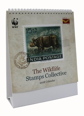 wwf DC-18104 2018 Table Calendar(Multicolor, Stamps, Philately)  available at flipkart for Rs.195