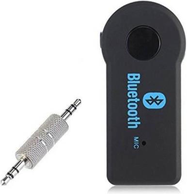 Wonder World ™ Streaming Car A2DP Wireless Bluetooth AUX Audio Music Receiver Adapter WW BT 108 Bluetooth Black Wonder World Mobile Accessories