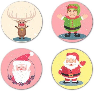 Giftsmate Round Wood Coaster Set(Pack of 4) at flipkart