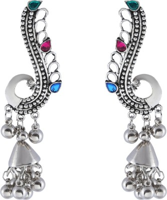 The Bling Stores Peacock Jhumpki Cuff-cum-drop Earrings Alloy Drop Earring