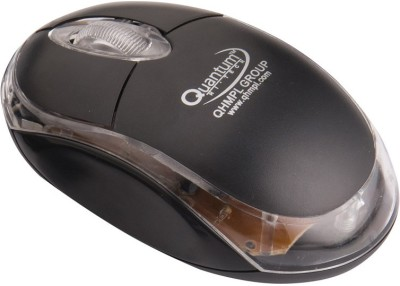 Quantum QHM 222 USB/PS2 MOUSE Wired Optical Gaming Mouse USB, Black Quantum Controllers