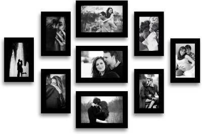 Swadesi Stuff MDF Photo Frame(Black, 9 Photos) at flipkart