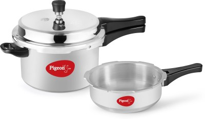 Pigeon Calida combi 5 L, 3.5 L Pressure Cooker & Pressure Pan with Induction Bottom(Aluminium)