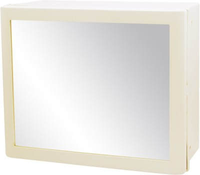 Wintex Deckroll Vertical Shutter Cabinet with Shelf Plastic Wall Shelf(Number of Shelves - 3, White, Beige)