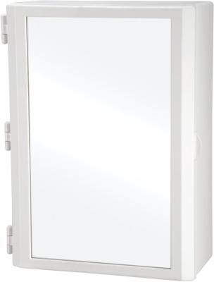 Wintex Compact Mirror Cabinet Plastic Wall Shelf(Number of Shelves - 4, White)
