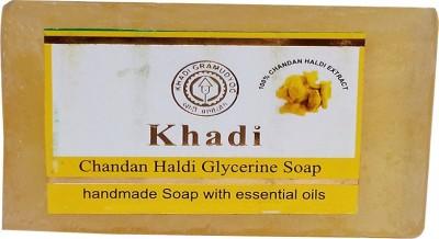 khadikhazana Khadi chandan haldi soap 125grams(125 g)