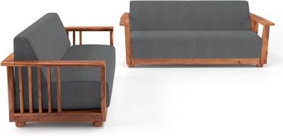 Roman Living Hastings Fabric 3 + 1 + 1 Grey Sofa Set