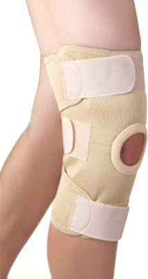 Kudize Elastic Knee Stabilizer Compression muscle Joint Protection Gym Wrap Open Patella Bandage Injury Guard Premium Super Quality Beige Knee Support (XXL, Beige)  available at flipkart for Rs.280