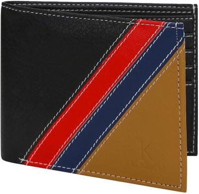 K London Men Black, Blue, Red, Tan Artificial Leather Wallet(4 Card Slots)