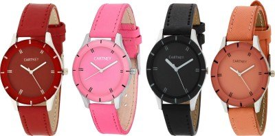 Cartney Analog Multi Color Dial Combo Pack of 4 Watch  - For Girls   Watches  (cartney)