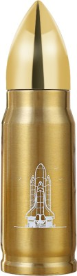 AEC™ Behome Travel Novelty Vaccum Stainless Steel Bullet Flask 500 ml Flask(Pack of 1, Gold)