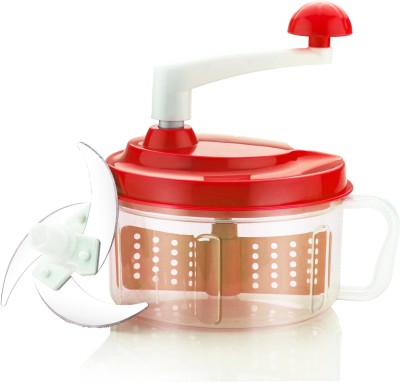 Doma Chop N' Churn Multi-functional Food Processor For Vegetable & Fruit Chopper(Red)  available at flipkart for Rs.349