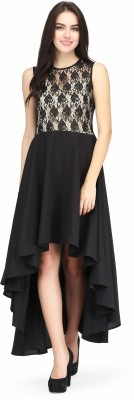 Eavan Women High Low Black Dress