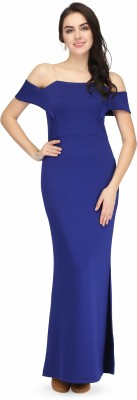 Eavan Women Maxi Blue Dress