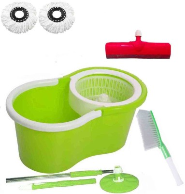 CREZON Magic Spin Cleaner Mop with 2 microfibers with carpet cleaner with Floor Wiper ((RANDOM COLOR SEND GREEN, PINK, BLUE, RED)) Home Cleaning Set  available at flipkart for Rs.1010