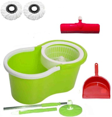 CREZON Magic Spin Cleaner Mop with 2 microfibers with Duster with Floor Wiper ((RANDOM COLOR SEND GREEN, PINK, BLUE, RED)) Home Cleaning Set  available at flipkart for Rs.1010