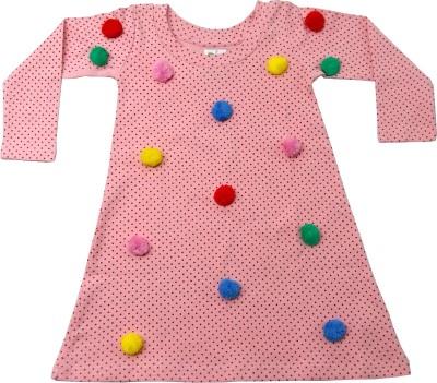 Always Kids Girls Midi/Knee Length Casual Dress(Pink, Full Sleeve) Flipkart