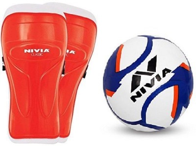Nivia Combo of Two, one Pair of 'Classic' Shin Guard (Color On Availability) and one 'Dominator' Football- Football Kit  available at flipkart for Rs.1060
