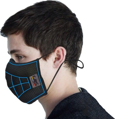 Gills Advanced Air Pollution and Dust Mask for Bike mask, Face Mask, Antipollution mask ,N99 mask for adults and children mask cool black Toby Mask and Respirator