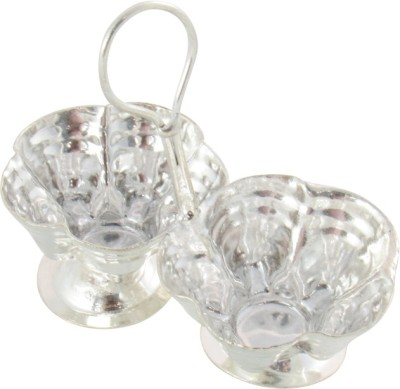 GoldGiftIdeas Small Jod Kamal Kankavati, Pooja Items for Home Silver Plated Pooja & Thali Set(Silver)  available at flipkart for Rs.175