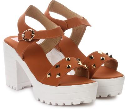 London Steps Women Tan Heels