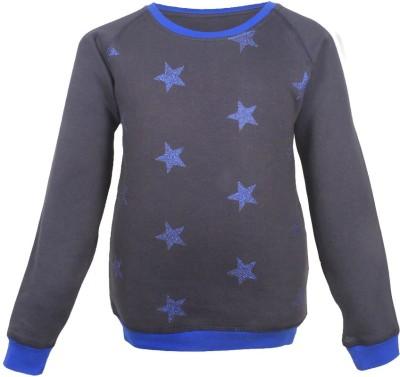 Gron Stockholm Full Sleeve Self Design Girls Sweatshirt at flipkart