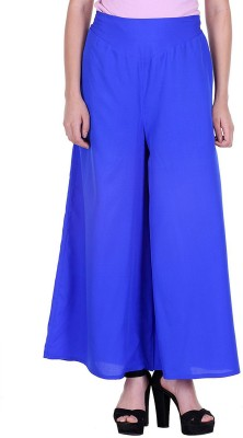 DARZI Flared Women Blue Trousers