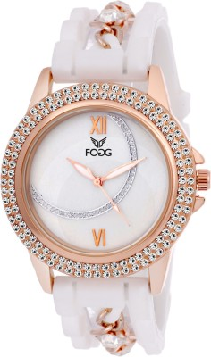 Fogg 3030-WH Elegant Analog Watch For Women