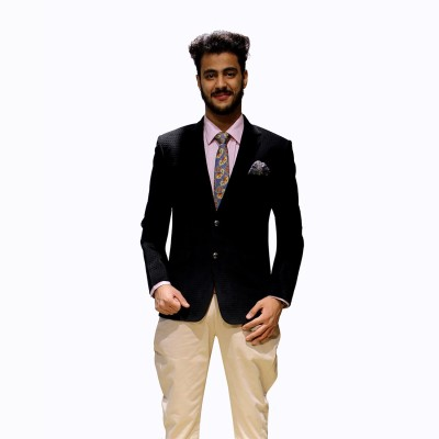 Modern Muse Solid Single Breasted Party Men's Blazer(Grey)  available at flipkart for Rs.2499