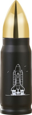 AEC™ Behome Travel Novelty Vaccum Stainless Steel Bullet Flask 500 ml Flask(Pack of 1, Black)