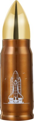 AEC™ Behome Novelty Vaccum Stainless Steel Bullet Flask 500ml Gold/Brown 500 ml Flask(Pack of 1, Multicolor)