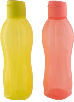 Tupperware Water bottle (set of 2) Each 1000 ml Bottle(Pack of 2, Multicolor)