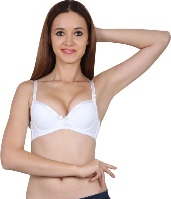 5e37161acc 58% OFF on Friskers Women s Push-up Heavily Padded Bra(White) on Flipkart