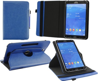 Emartbuy Flip Cover for PolaTab Elite Q10.2 Tablet 2015 10 Inch(Blue, Artificial Leather)