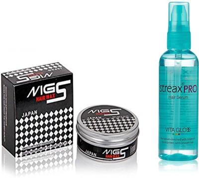 STREAX Pro Hair Serum Vita Gloss 100ml, MG5 Hair Wax 150gm(Set of 2)  available at flipkart for Rs.335