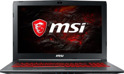 MSI GV Series Core i7 7th Gen - (16 GB/1 TB HDD/128 GB SSD/Windows 10 Home/6 GB Graphics) GV62VR 7RF-1067IN Gaming Laptop(15.6 inch, Grey, 2.2 kg) image