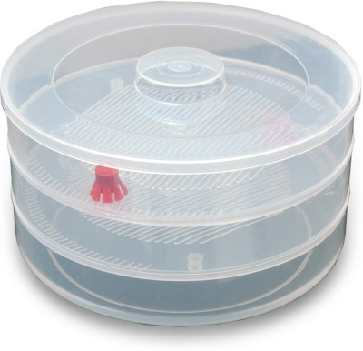 welldone 3 Compartment Sprout Maker  - 1.2 L Plastic Grocery Container(Clear)  available at flipkart for Rs.309