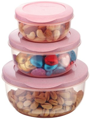 Mastercook Malta  - 290 ml, 580 ml, 1000 ml Plastic Grocery Container(Pack of 3, Pink)