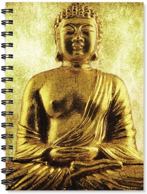 100yellow Notebook   Buddha Printed Wire Bound Spiral Notebook / Designer Covers Combined With Ruled Sheets Notebook/ Office Stationery/School Supplies/Diary A5 Notebook Ruled 170 Pages(Multicolor)