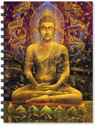 100yellow Notebook   Buddha Printed Wire Bound Spiral Notebook /Designer Covers Combined With Ruled Sheets Notebook / Office Stationery/School Supplies/Diary A5 Notebook Ruled 170 Pages(Multicolor)