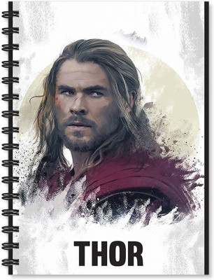 100yellow Notebook   Thor Printed Notebook   Wire Bound Spiral Notebook/Designer Covers Combined With Ruled Sheets Notebook/ Office Stationery/School Supplies/Diary A5 Notebook Ruled 170 Pages(Multicolor)