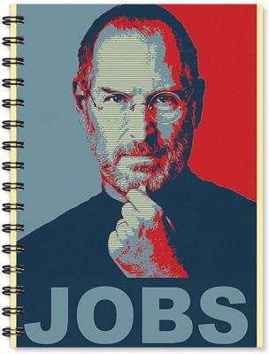 100yellow Notebook   Steve Jobs Print Notebook   Wire Bound Spiral Notebook/Designer Covers Combined With Ruled Sheets Notebook/ Office Stationery/School Supplies/Diary A5 Notebook Ruled 170 Pages(Multicolor)