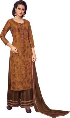 ONLAND Art Silk Printed Semi-stitched Salwar Suit Dupatta Material