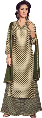 Likeadiva Art Silk Printed Semi-stitched Salwar Suit Dupatta Material