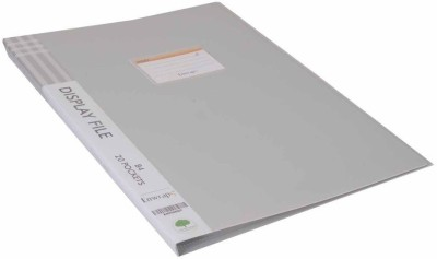 AKSHAT PLASTIC Premium Quality Display File B4 with 20 pockets for Certificates, Property Documents, Large Legal Size Documents(Set Of 1, Grey)  available at flipkart for Rs.259