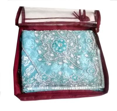 Glitter Saree Cover Cotton Red Glitter Garment Covers