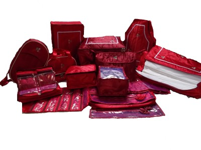 Glitter Women Cloths Organizer Special Combo Red Glitter Garment Covers